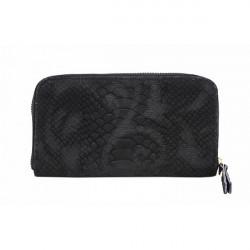 Kožená peňaženka 595 čierna, Čierna