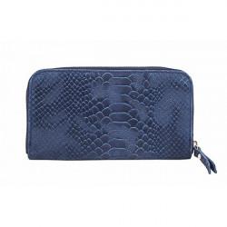 Kožená peňaženka 595 modrá, Modrá