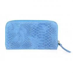 Kožená peňaženka 595 nebesky modrá, Modrá