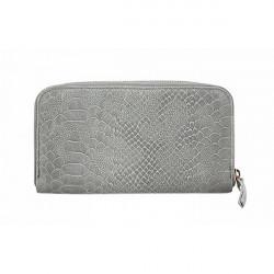Kožená peňaženka 595 šedá, Šedá