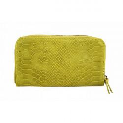 Kožená peňaženka 595 žltá, Žltá