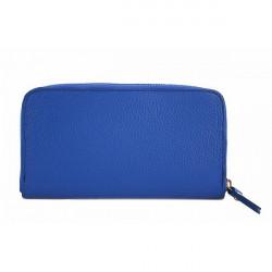 Kožená peňaženka 820B azurovo modrá, Modrá