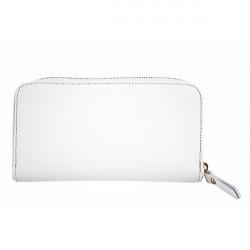 Kožená peňaženka 820B biela, Biela
