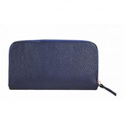Kožená peňaženka 820B modrá, Modrá