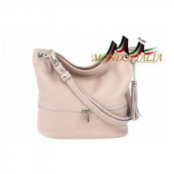 Kožená talianska kabelka na rameno 143 ružová, ružová
