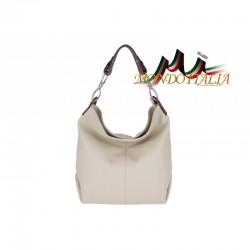 Kožená talianska kabelka na rameno 816 béžová MADE IN ITALY