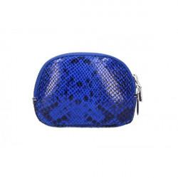Kožené púzdro 5348 azurovo modré Made in Italy, Modrá