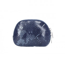 Kožené púzdro 5348 tmavomodré Made in Italy, Modrá