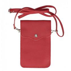 Kožené púzdro na mobil MI895 červené Made in Italy, Červená