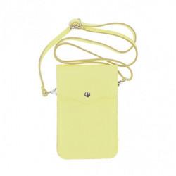 Kožené púzdro na mobil MI895 limetkovo žlté Made in Italy Žltá