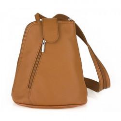 Kožený batoh 1083 koňakový Made in Italy, Koňak