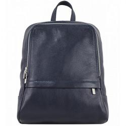 Kožený batoh 129 modrý Made in Italy, Modrá