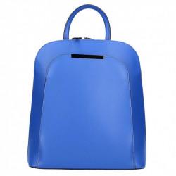 Kožený batoh 1488 azurovo modrý MADE IN ITALY, Farba modrá MADE IN ITALY ZOFIA S7074