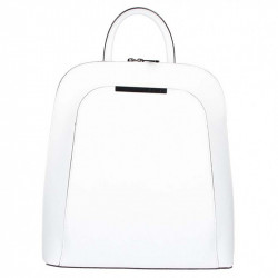 Kožený batoh 1488 biely MADE IN ITALY, Farba biela MADE IN ITALY ZOFIA S7074