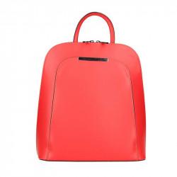 Kožený batoh 1488 červený MADE IN ITALY, Farba červená MADE IN ITALY ZOFIA S7074