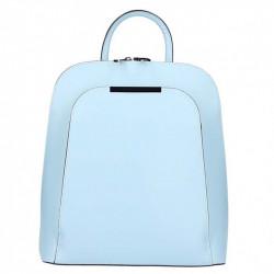 Kožený batoh 1488 nebesky modrý MADE IN ITALY, Farba nebesky modrá MADE IN ITALY ZOFIA S7074