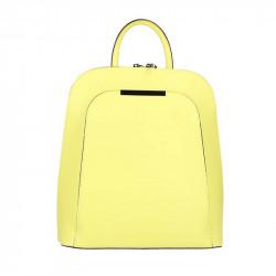 Kožený batoh 1488 žltý MADE IN ITALY, Farba žltá MADE IN ITALY ZOFIA S7074