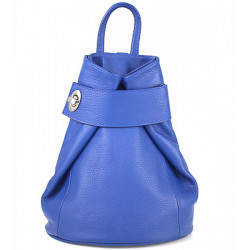 Kožený batoh 443 azurovo modrý Made in Italy Modrá