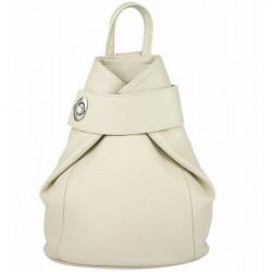 Kožený batoh 443 béžový Made in Italy Béžová