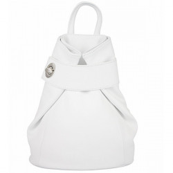 Kožený batoh 443 biely Made in Italy, Biela