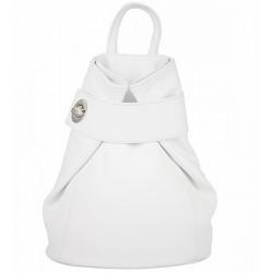 Kožený batoh 443 biely Made in Italy Biela