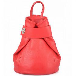 Kožený batoh 443 červený Made in Italy Červená