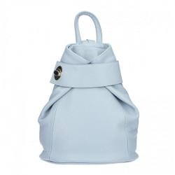 Kožený batoh 443 nebesky modrý Made in Italy Nebesky modrá
