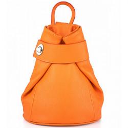 Kožený batoh 443 oranžový Made in Italy, Oranžová