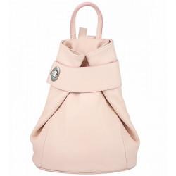 Kožený batoh 443 pudrovo ružový Made in Italy Ružová