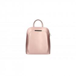 Kožený batoh 5082 metalický ružový MADE IN ITALY, ružová