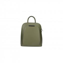Kožený batoh 5082 vojensky zelený MADE IN ITALY, zelená