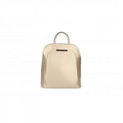 Kožený batoh 5082 zlatý MADE IN ITALY, zlatá
