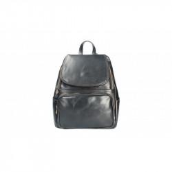 Kožený batoh 5089 čierny MADE IN ITALY, čierna