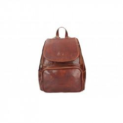 Kožený batoh 5089 hnedý MADE IN ITALY, hnedá