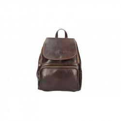 Kožený batoh 5089 tmavohnedý MADE IN ITALY, hnedá