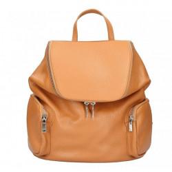 Kožený batoh 5339 koňakový Made in Italy, Koňak