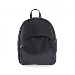 Kožený batoh 5341 čierny Made in Italy, Čierna