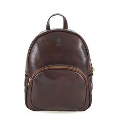 Kožený batoh 5341 hnedý Made in Italy, Hnedá