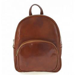 Kožený batoh 5341 koňakový Made in Italy, Koňak