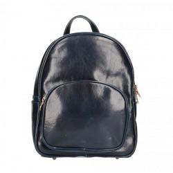 Kožený batoh 5341 modrý Made in Italy Modrá