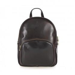Kožený batoh 5341 tmavohnedý Made in Italy, Hnedá