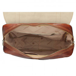 Kožený batoh 5342 modrá+hnedá MADE IN ITALY, Modrá #1