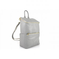 Kožený batoh 789 šedý Made in Italy Šedá