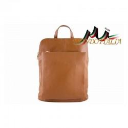 Kožený batoh 9016 koňak MADE IN ITALY 9016
