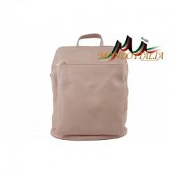 Kožený batoh 9016 ružový MADE IN ITALY 9016