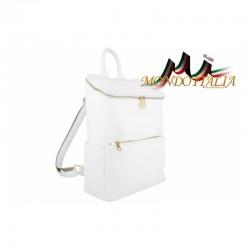 Kožený batoh 9017 biely MADE IN ITALY 9017