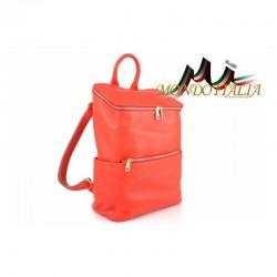 Kožený batoh 9017 červený MADE IN ITALY 9017