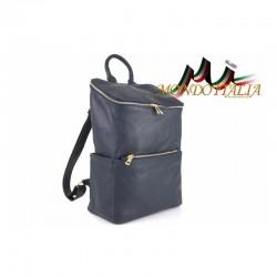 Kožený batoh 9017 modrý MADE IN ITALY 9017