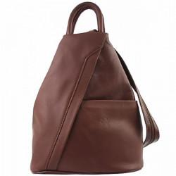 Kožený batoh hnedý Made in Italy, Hnedá