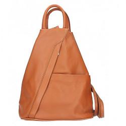 Kožený batoh koňakový Made in Italy, Koňak